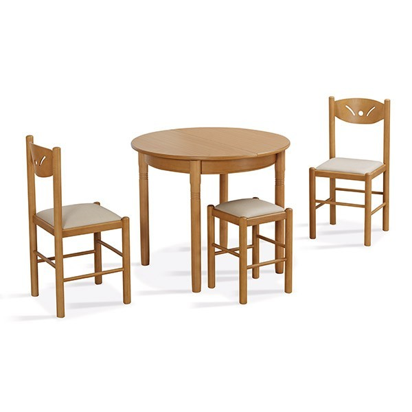 Comprar online mesa redonda de madera laminada Isla en Muebles Lara
