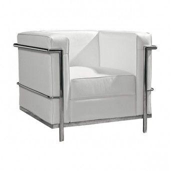Comprar sillón Le Corbusier blanco en Muebles Lara.