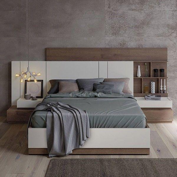 comprar online dormitorio moderno madera natural